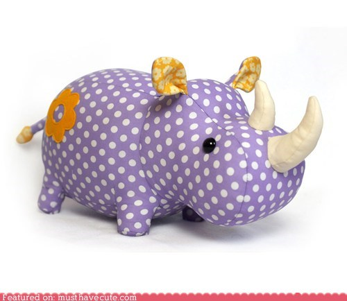 best of the week craft DIY pattern Plush rhino sewing - 6340736000