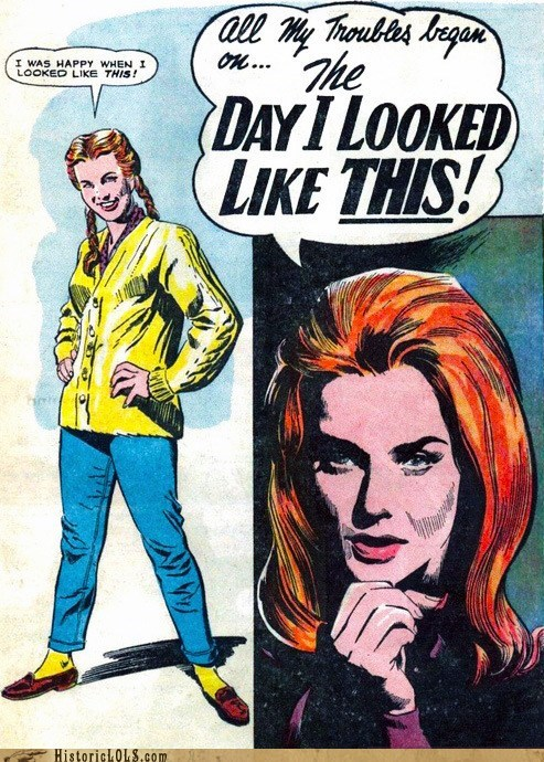 comic girl lady trouble - 6342173696