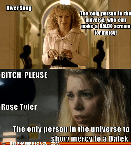 alex kingston billie piper dalek doctor who mercy River Song rose tyler special universe