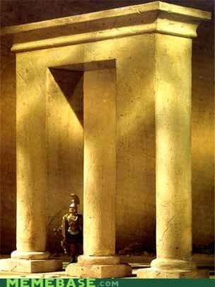 mind blown,illusion,awesome,pillars