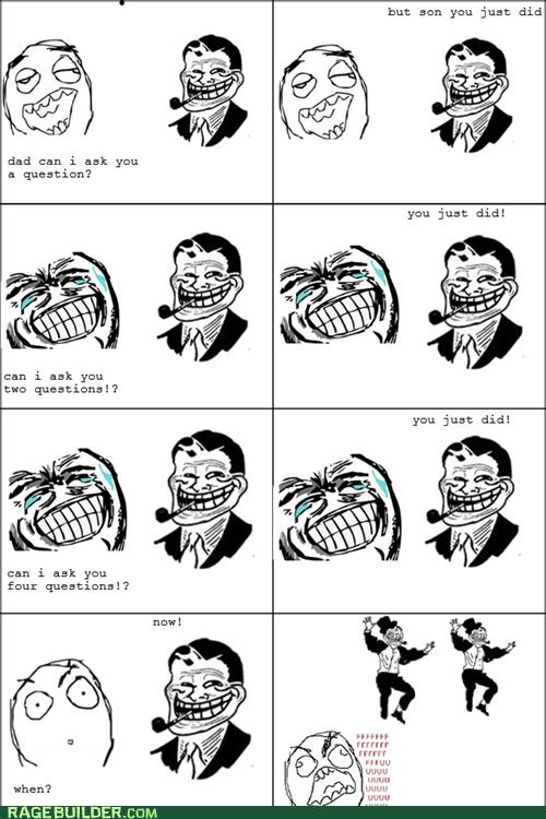 parenting questions Rage Comics troll dad - 6343190272