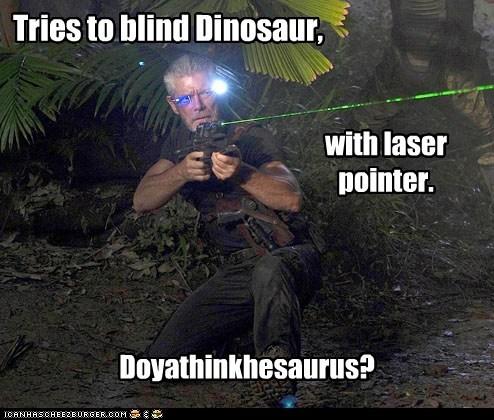 blind commander taylor dinosaurs laser pointer puns Stephen Lang terra nova - 6343327744