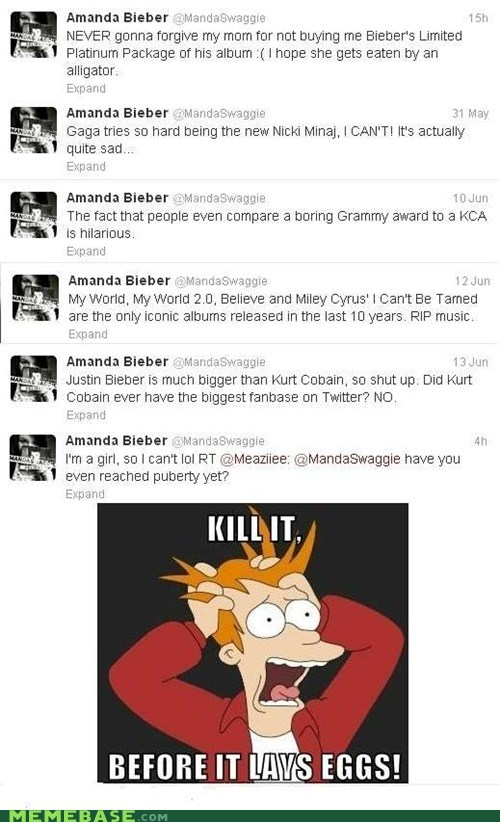 amanda bieber,best of week,cant-tell-if-trolling-or,justin beiber,Kill It Wire Fire,twitter,weird kid