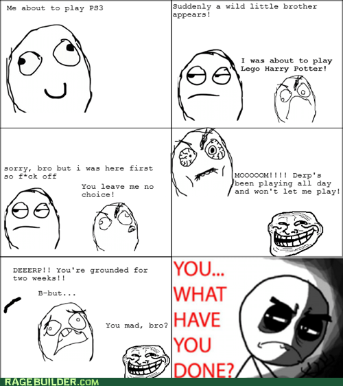 brothers parenting Rage Comics video games what have you done - 6343770880