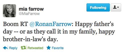 mia farrow,ronan farrow,tweet,woody allen