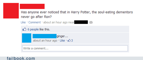 ginger gingers Harry Potter ron soul - 6344654592