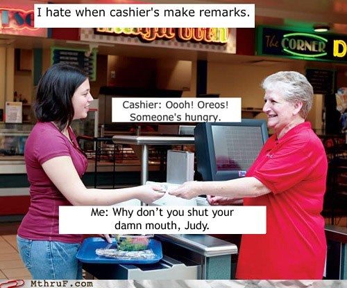 cashier,cashier comments,checkout,judy