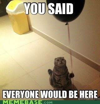 balloon birthday cat Memes - 6344717312