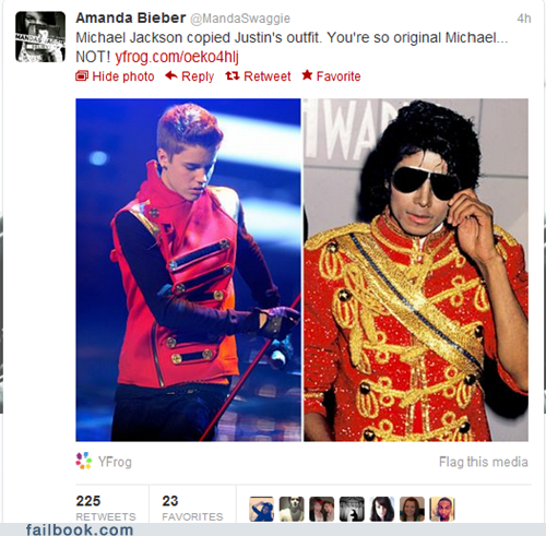 g rated,justin bieber,michael jackson,Music,twitter,twitter-failbook