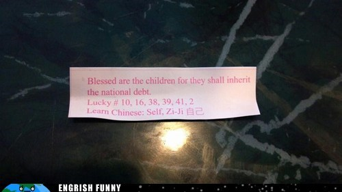 fortune,fortune cookie,national debt