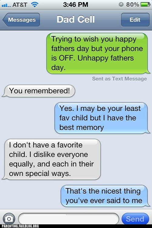 fathers day,favorite child,iphone,text