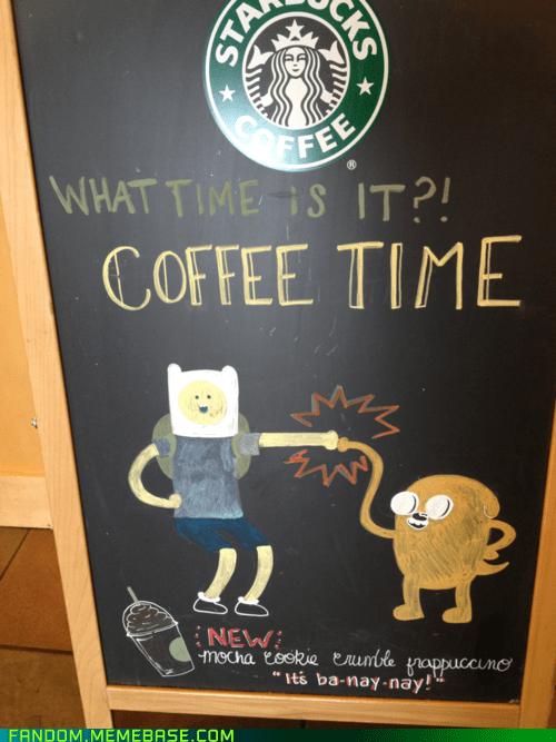 adventure time coffee Fan Art sign - 6345122816