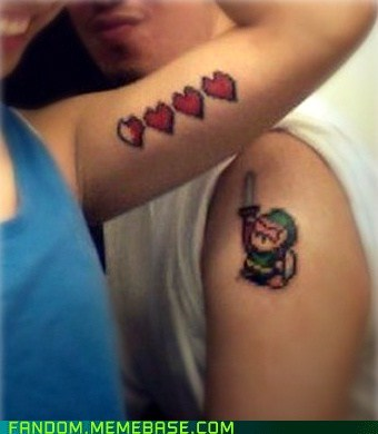 body modification It Came From the It Came From the Interwebz legend of zelda tattoos video games - 6345155328