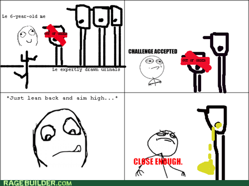 Close Enough peetimes Rage Comics urinal - 6345176832