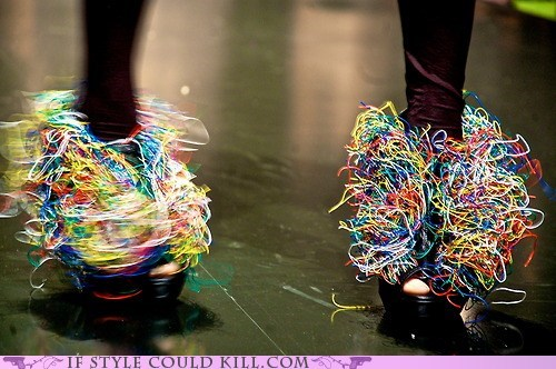 colorful crazy shoes wires - 6345253376