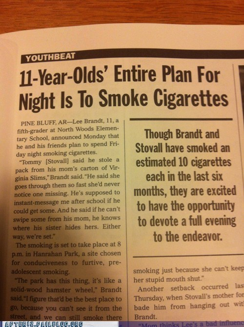 11-year-olds cigarettes newspaper - 6345266432