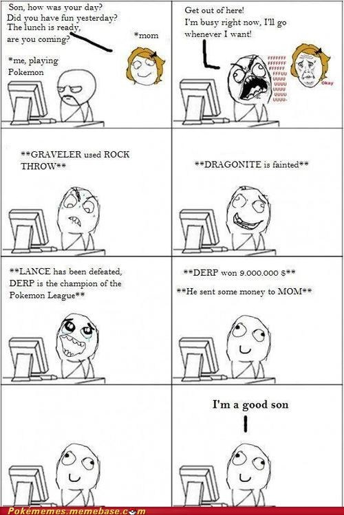 Battle,berries,elite 4,good son,mom,money,rage comic,Rage Comics