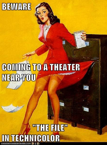 file cabinet,Movie,pin up,skirt,woman