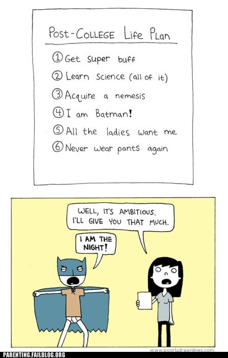 batman,comic,post-college life plan