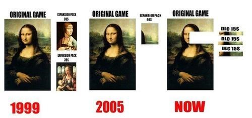 DLC,gaming,mona lisa,sad state,the feels,video games