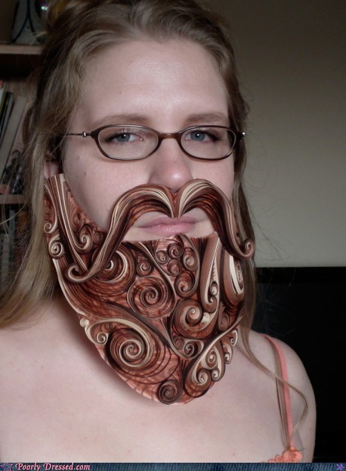 beard design paper quilled paper