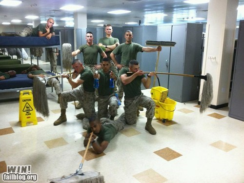 army BAMF cleaning military supplies - 6346141952