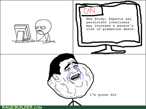 Death,forever alone,news,Rage Comics