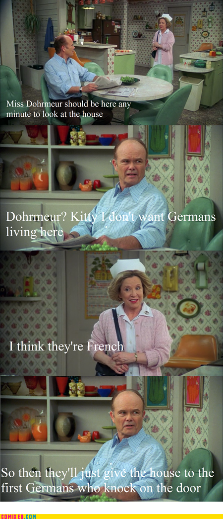 french,germans,red foreman,surrender,that 70s show,TV
