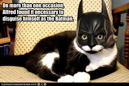 On more than one occasion, Alfred found it necessary to disguise himself as the Batman.