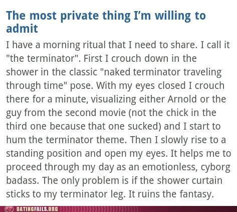 ok cupid The Terminator too much information too personal - 6347247872