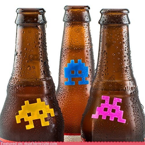 Aliens drinks id marker space invaders - 6347674112