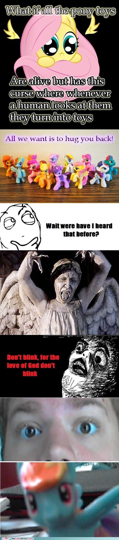 blink doctor who fluttershy hug toys weeping angels - 6347833344