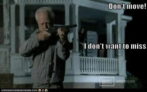 aiming farm guns hershel greene scott wilson The Walking Dead zombie - 6347992320