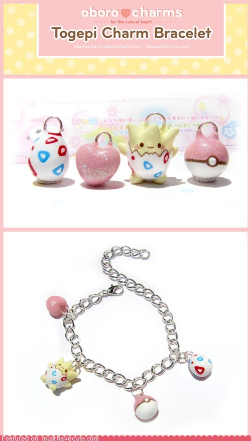 bracelet,Charms,egg,pokeball,Pokémon,togepi