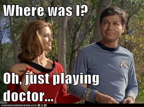 DeForest Kelley if you know what i mean McCoy Playing Doctor smirk torn where - 6348325632