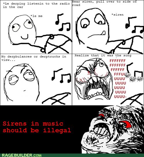 driving Music Rage Comics raisin rage sirens - 6348506368