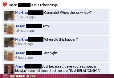 facebook status in a relationship jumped the gun lucky lady - 6348709376