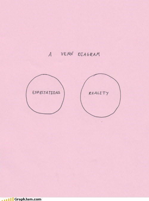 expectations vs reality,venn diagram
