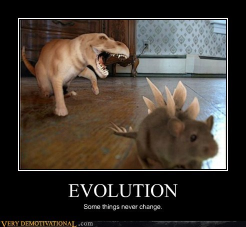 EVOLUTION Some things never change.