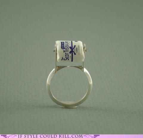 cool accessories ring of the day rings toilet paper - 6349075456
