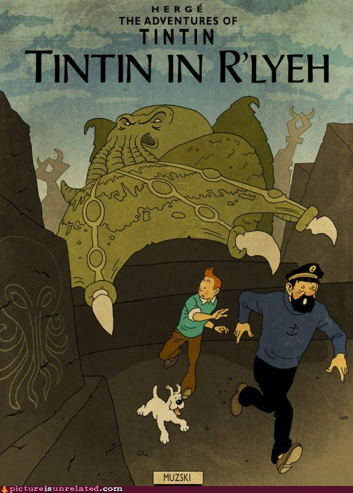 art best of week cthuluhu lovecraft rlyeh Tintin wtf - 6349136384