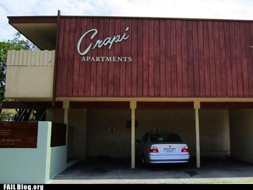crapi apartments funny names sign - 6349184768