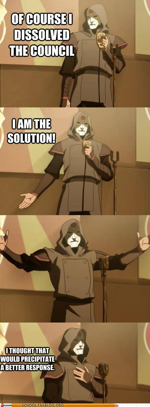 bad joke Amon,dissolved,Hall of Fame,legend of korra,the solution