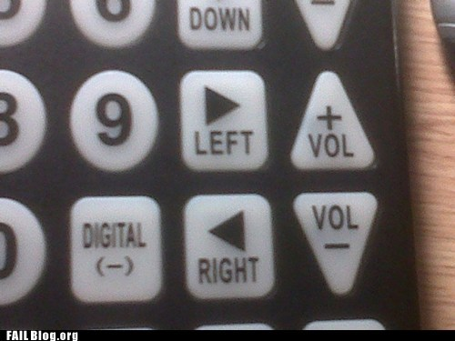 arrows buttons left remote control right