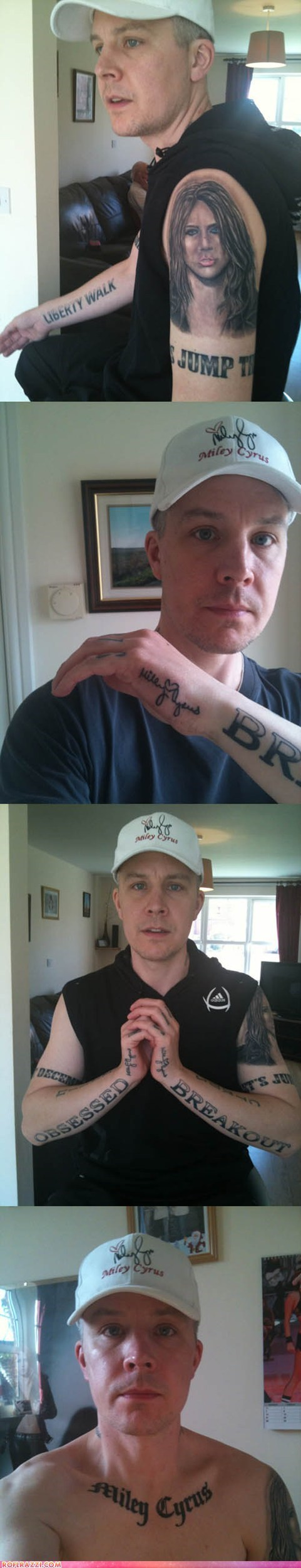 actor celeb creepy miley cyrus Music tattoo wtf - 6349386752