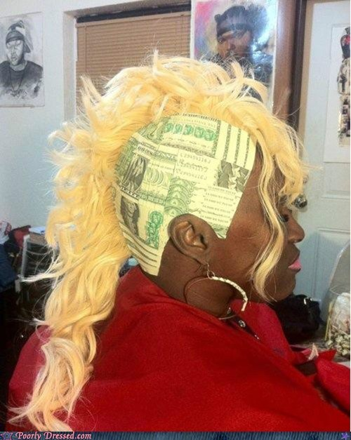 dolla dolla bill hair money weave wig - 6349591808