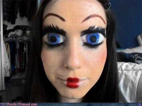 creepy face paint kawaii oh god why - 6349711360