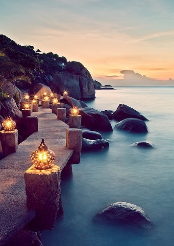 beach goodbye Hall of Fame lanterns ocean thailand wincation - 6349846272