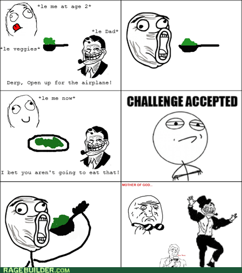 Challenge Accepted parenting Rage Comics troll dad - 6349939968