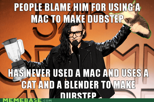 blender,cat,skrillex,true facts,weird kid